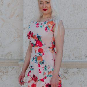 Pink Flower Dress